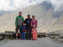 Meine Thakali-Gastgeberfamilie in Thinigaon