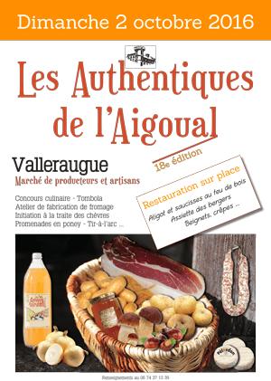 Les authentiques de l'Aigoual, le samedi 2 octobre à Valleraugue