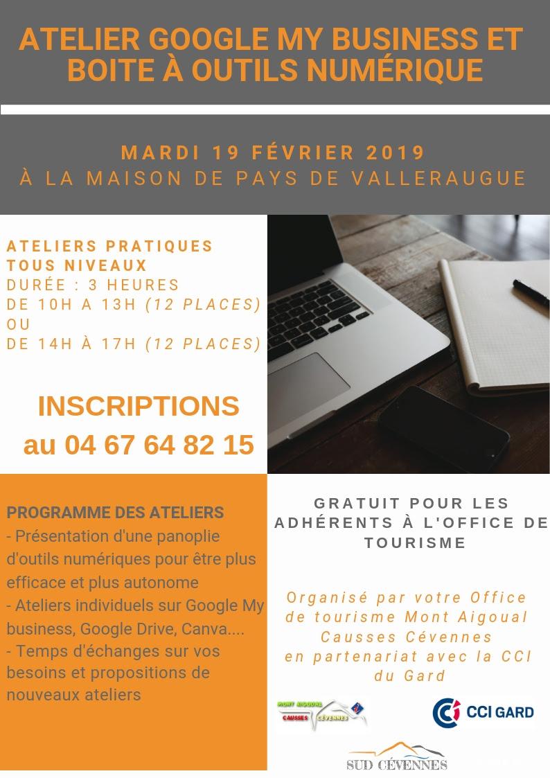 Mardi 19 Février – Atelier Google à la Maison de pays