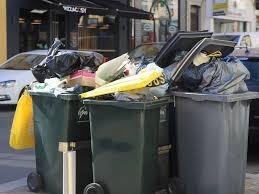 images de poubelles pleines