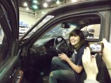 Trin takes a photo of Rane in the Dominator - it's almost too good to be true!