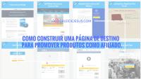 Como construir uma página de destino para promover produtos como afiliado.