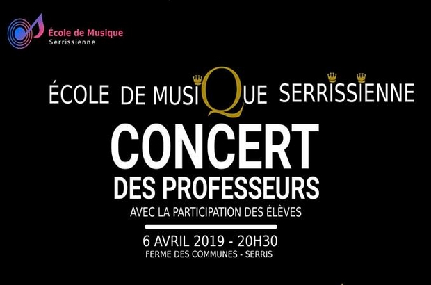 Serris ► Concert de l'Ecole de musique serrissienne le 6 avril 2019 à la Ferme Des Communes.
