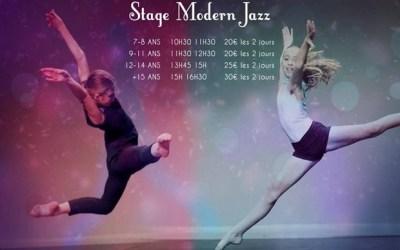 Serris ► Stages de danse Modern Jazz les 29 et 30 avril ouvert à tous