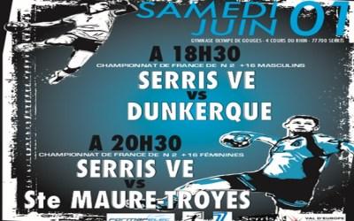 Serris ► Handball : Serris VE reçoit à domicile Dunkerque et Ste Maure Troyes le 1er juin