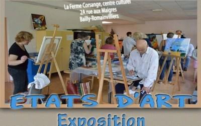"""Bailly-Romainvilliers ► Exposition """"Etats d'art"""" du 21 au 25 mai 2019"""