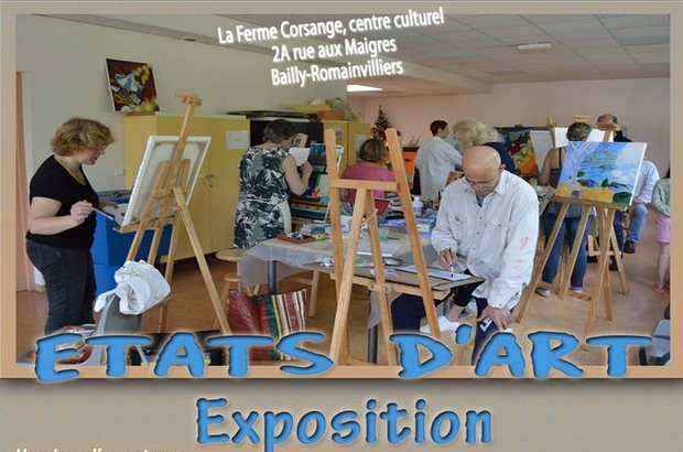 "Bailly-Romainvilliers ► Exposition ""Etats d'art"" du 21 au 25 mai 2019"