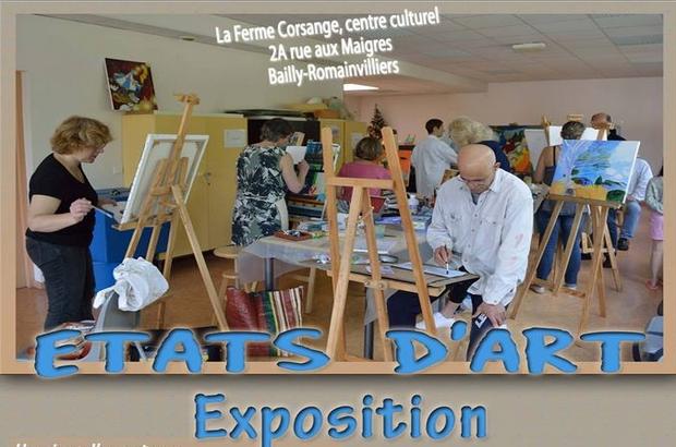 Bailly-Romainvilliers ► Exposition «Etats d'art» du 21 au 25 mai 2019