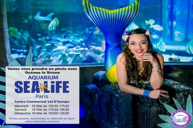Serris ► Rencontrer Océane la Sirène et vous prendre en photo à l'Aquarium Sealife