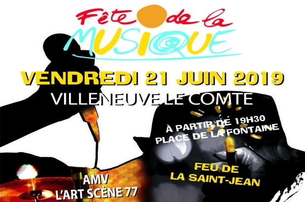 Villeneuve le Comte ► La Fête de la musique aura lieu le vendredi 21 juin 2019