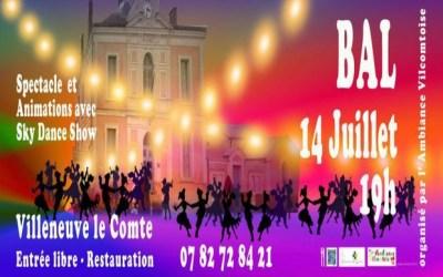 Villeneuve-le-Comte ► 3 ème édition du Grand Bal du 14 juillet 2019 place de la Fontaine