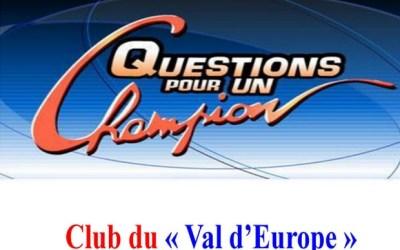 Serris ► Tournoi Open Questions pour un champion  samedi 15 juin 2019