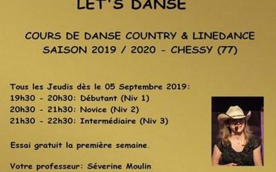 Chessy ► Nouveaux Cours de Country & Linedance à la rentrée 2019 avec Let's danse
