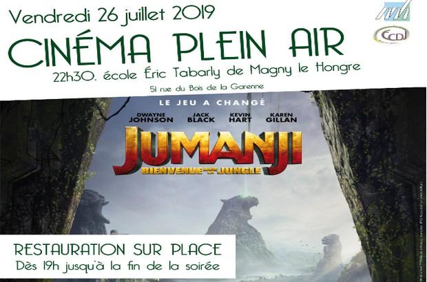 Magny le Hongre ► Cinéma en plein air avec le film Jumanji vendredi 26 juillet