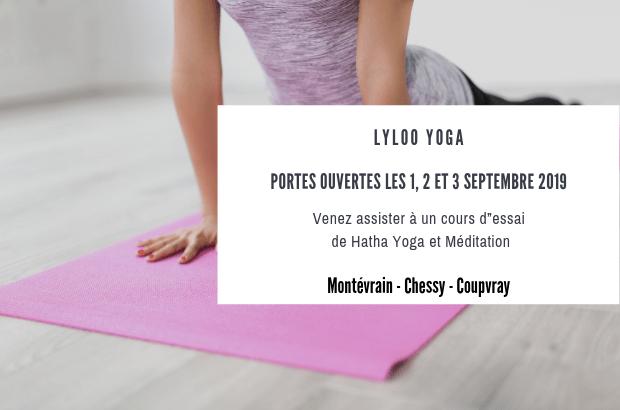 Portes Ouvertes de Lyloo Yoga les 1, 2 et 3 septembre sur Montévrain, Chessy et Coupvray