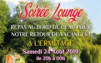 Chalifert ► Soirée Lounge au bord de l'eau à L'ermitage samedi 24 août