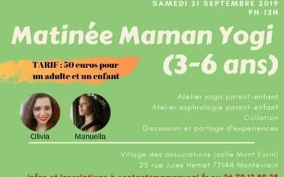 Montévrain ► Matinée Maman Yogi au village des associations le 21 septembre