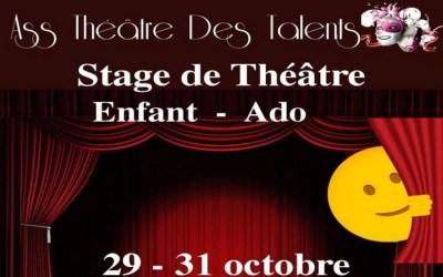 Montry ► Stage de Théâtre organisé par Ass Théâtre Des Talents du 29 au 31 octobre