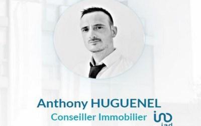 Anthony Huguenel conseiller immobilier Iad sur le secteur du Val d'Europe
