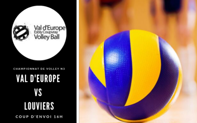 Val D'europe Volley-ball rencontre Louviers le 6 octobre à Coupvray