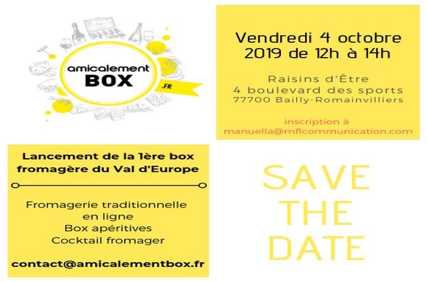 Lancement d'Amicalement Box le 4 octobre à Raisins d'Être de Bailly-Romainvilliers