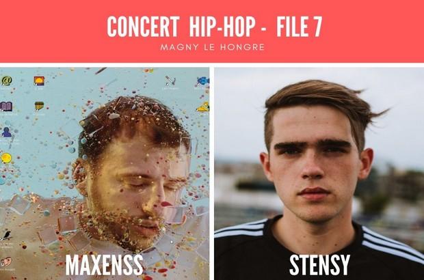 Concert Hip-hop avec Maxenss & Stensy le 2 novembre au File 7 de Magny le Hongre