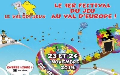 Festival Le Val Des Jeux les 23 et 24 novembre 2019 au Gymnase Eric Tabarly de Serris