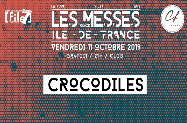 Concert Rock indé avec Crocodiles le 11 octobre au File 7 à Magny le Hongre