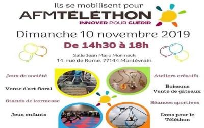 Les associations de Montevrain se mobilisent pour  le Téléthon 2019 le 10 novembre