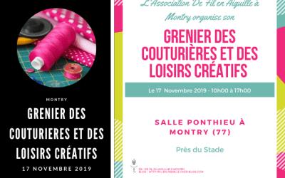 Grenier des Couturières et des Loisirs Créatifs à Montry le dimanche 17 novembre