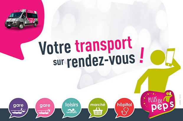 Le service de Transport à la demande « Plus de Pep's » évolue