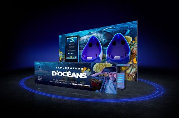 Immersion en réalité virtuelle entre les baleines ou les requins à Sea Life Val d'Europe