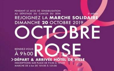 Marche solidaire Octobre Rose le 20 octobre à l'Hôtel de ville de Serris