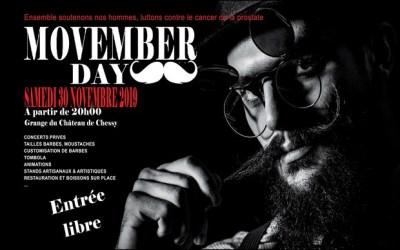 Soirée Movember 2019 Organisée le 30 novembre au  Château de Chessy