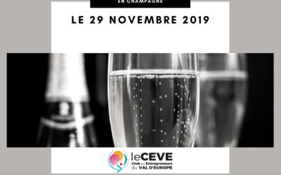 Le CEVE vous propose une journée exceptionnelle en Champagne le 29 novembre
