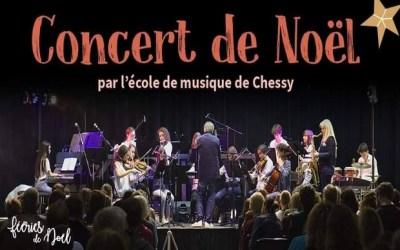 Concert de Noël interprété par l'Ecole de Musique de Chessy à la Grange du Château