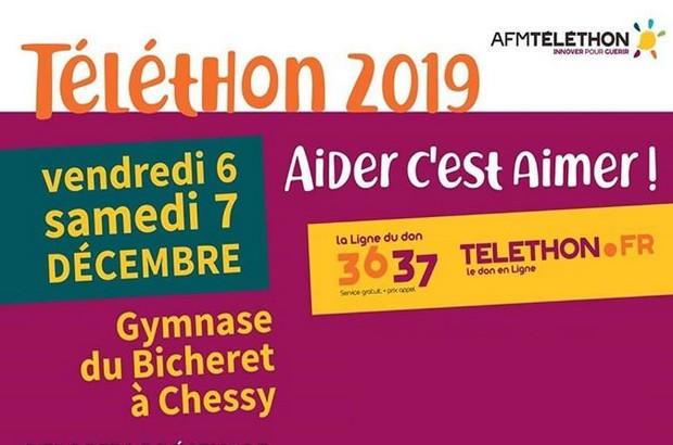 Chessy organise le Téléthon au gymnase du Bicheret les 6 et 7 décembre 2019