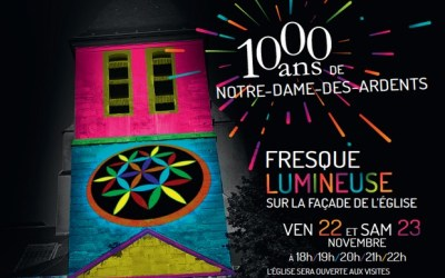 L'abbatiale Notre-Dame-des-Ardents fête ses 1000 ans avec un spectacle lumineux