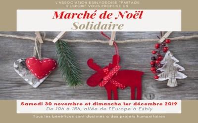 L'association Partage Espoir organise son 14ème Marché de Noel Solidaire à Esbly
