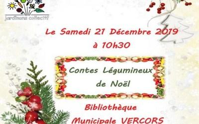 Contes légumineux de Noël à la Bibliothèque Municipale Vercors de Saint-Germain