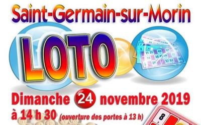 Grand Loto à Saint Germain sur Morin dimanche au  Centre Sportif Jacques Godet