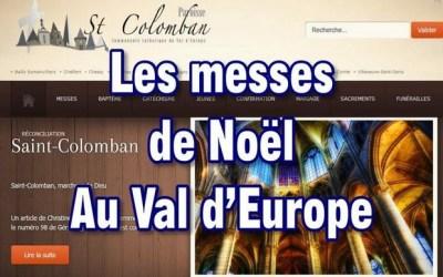 Les horaires des messes de Noël au Val d'Europe et ses environs, les 24 et 25 décembre
