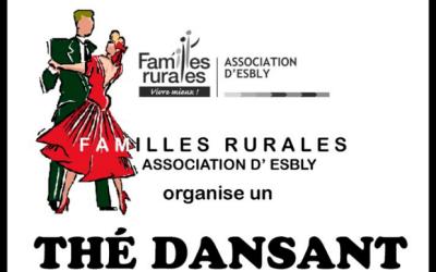 Thé dansant des Familles rurales dimanche 5 janvier 2020 à l'Espace Litzler d'Esbly