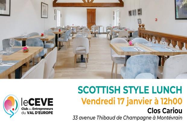 Le CEVE organise un Scottish style lunch le 17 janvier au Clos Cariou à Montevrain
