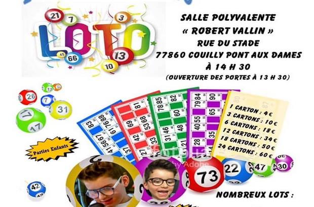 Couilly-Pont-aux-Dames : Loto au profit de l'association Pas à Pas Avec Sacha le 23 février