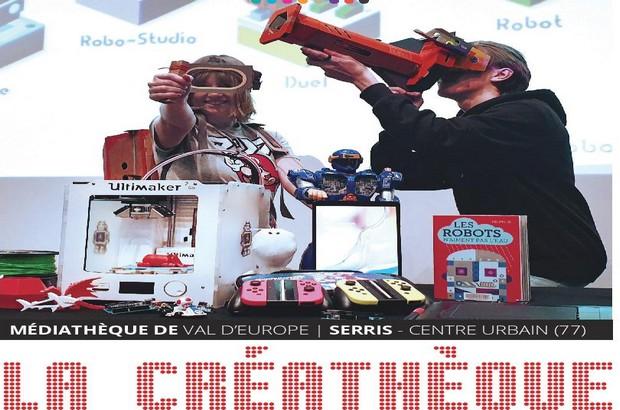Ouverture de la Créathèque à la Médiathèque de Val d'Europe le 1er février 2020