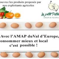 L' AMAP Val d'Europe propose quelques places à de nouveaux adhérents
