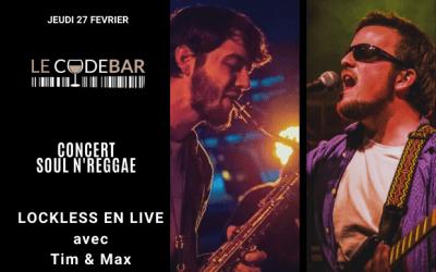 Magny : Concert live Soul N'Reggae avec Lockless au Code Bar jeudi 27 février