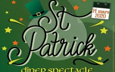 Fêter la Saint-Patrick lors d'un Dîner spectacle à Magny le Hongre le 14 mars