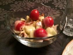 Endives, pommes, pacanes et cheddar